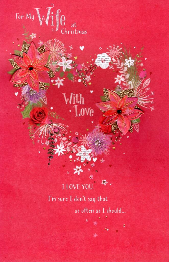 Wife Traditional Christmas Greeting Card Cards