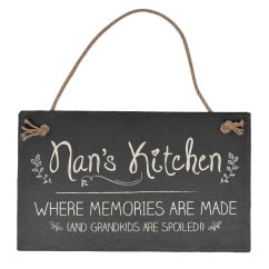 Kitchen Plaques Ideas For Islands Nan S Hanging Slate Plaque Sign Gift Gifts
