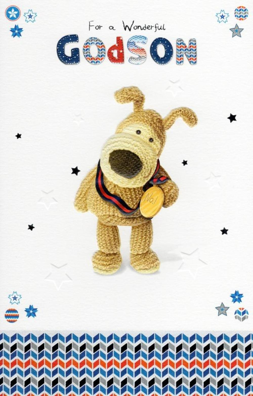 Boofle Godson Happy Birthday Greeting Card Cards