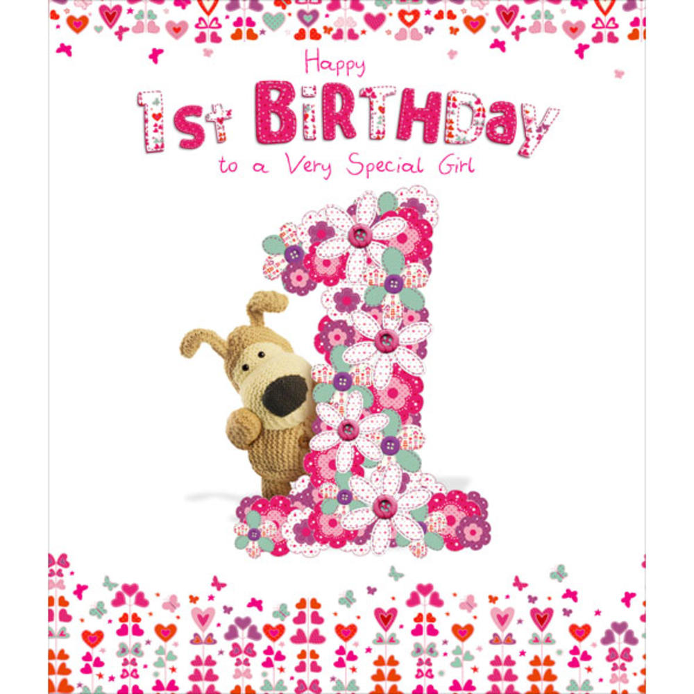 Boofle Happy 1st Birthday Greeting Card Cards
