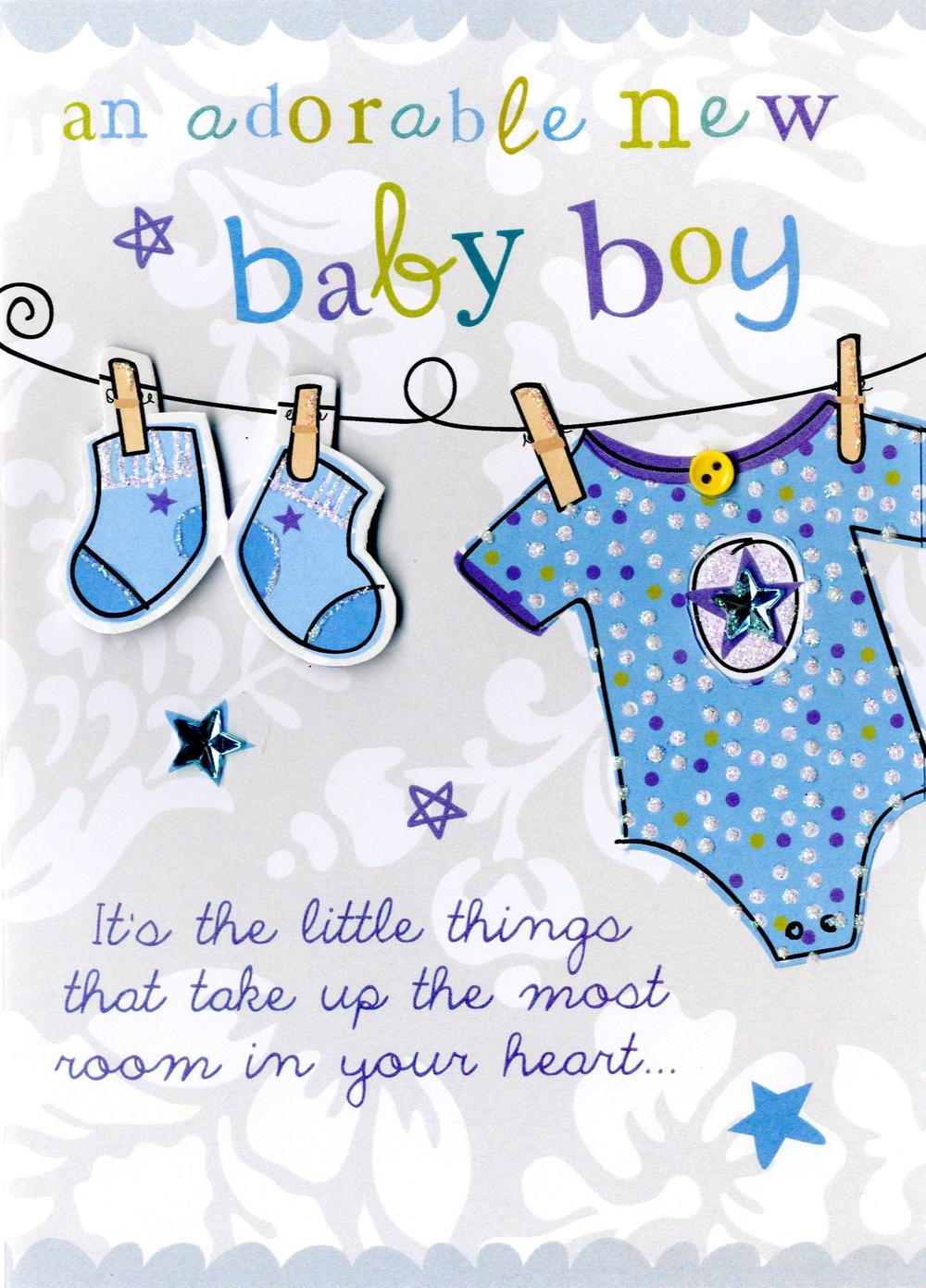 New Baby Boy Greeting Card Cards