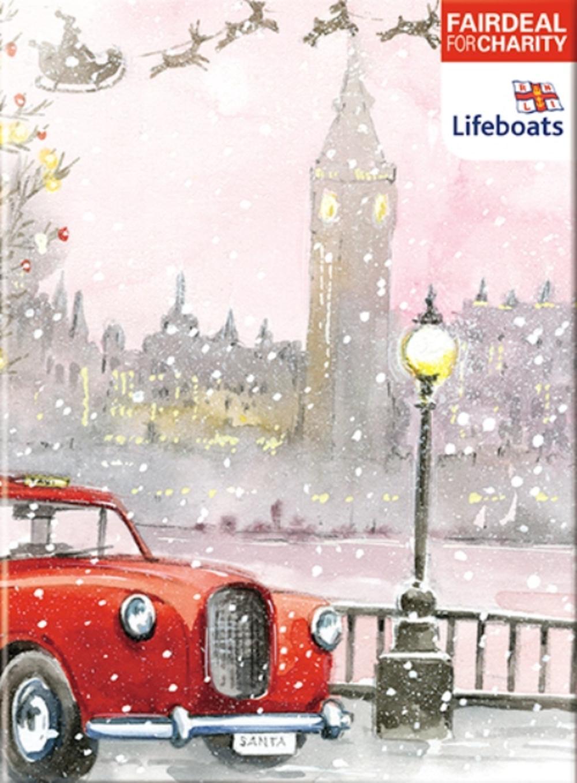 Box Of 10 Santas Taxi RNLI Lifeboats Fairdeal Charity