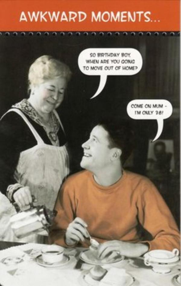 Vintage Funny Retro Birthday Cards