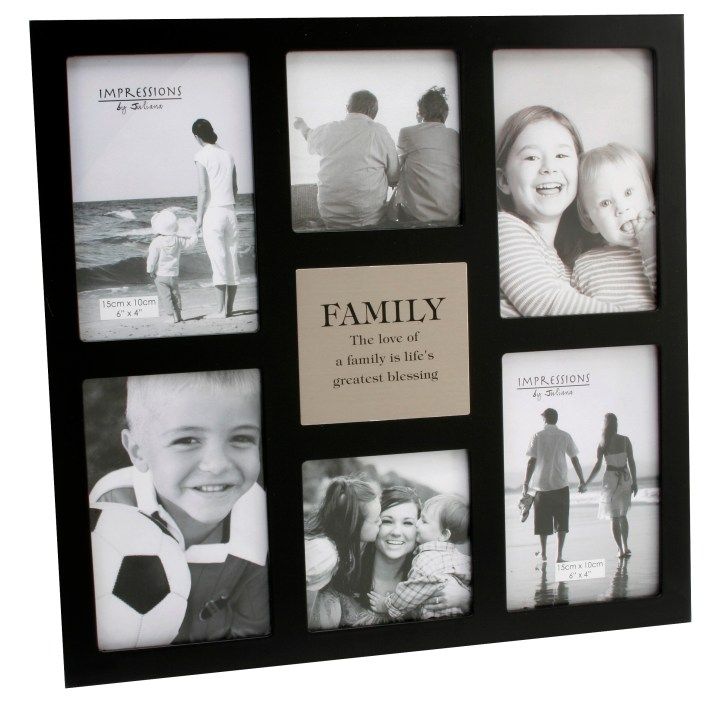 6d0a580c015 Family Large Black Multi Photo Frame Gifts Love Kates