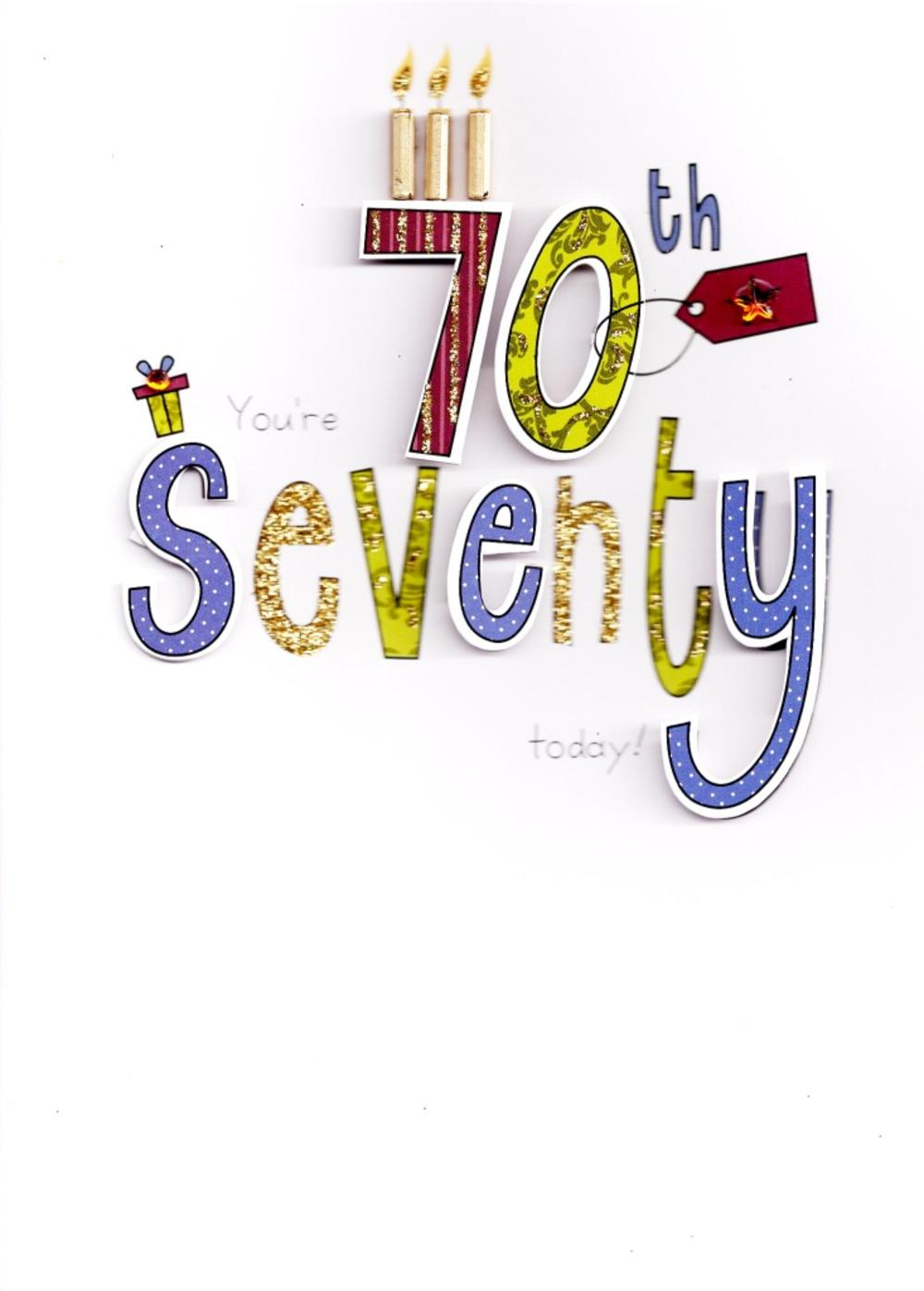 70th Birthday Handcrafted Special Greeting Card Cards