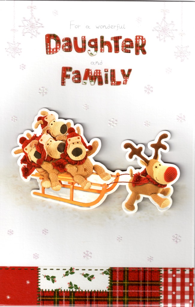 Boofle Daughter Amp Family Christmas Card Cards Love Kates