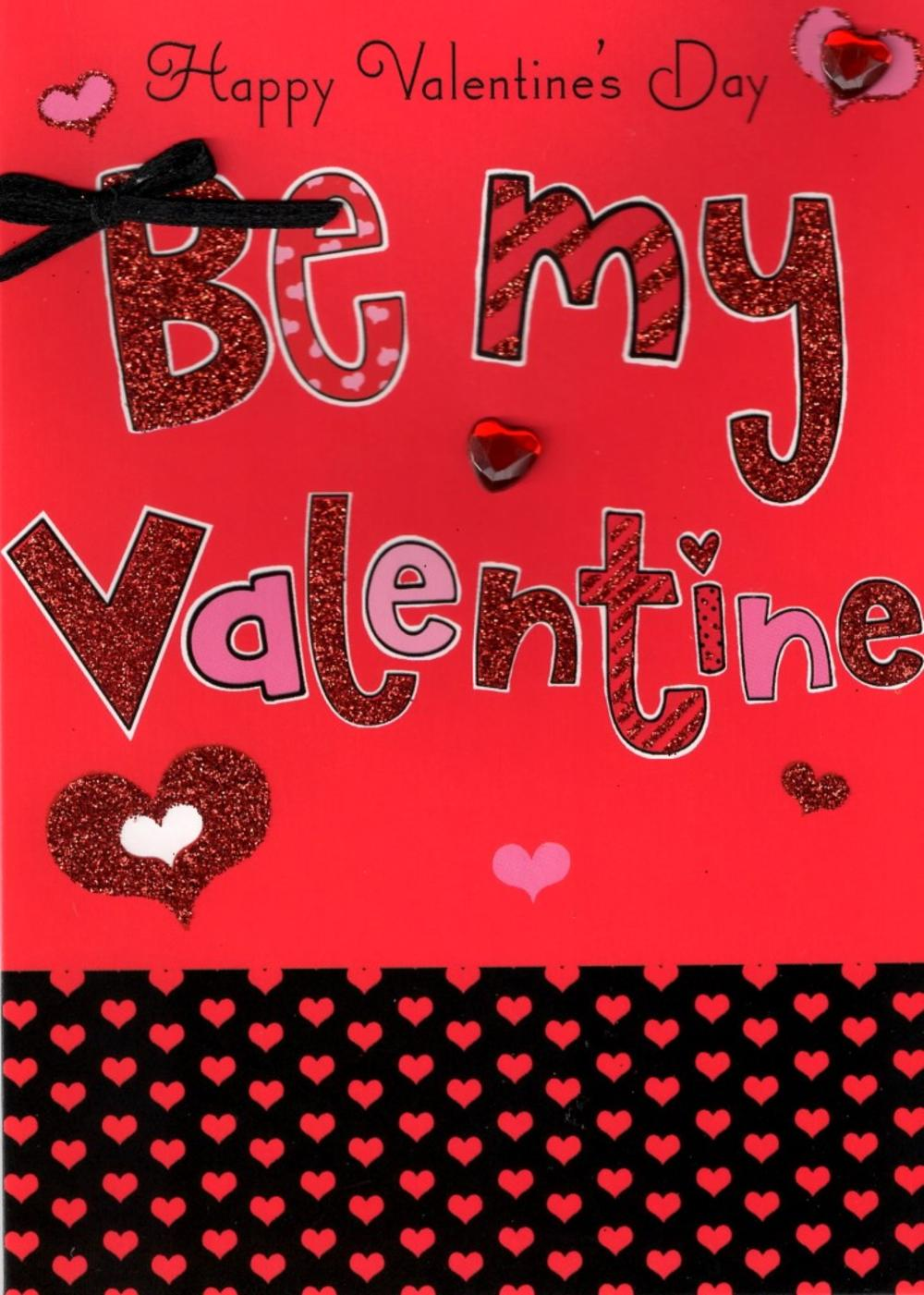 Be My Valentine Hand Finished 3D Valentines Card Cards