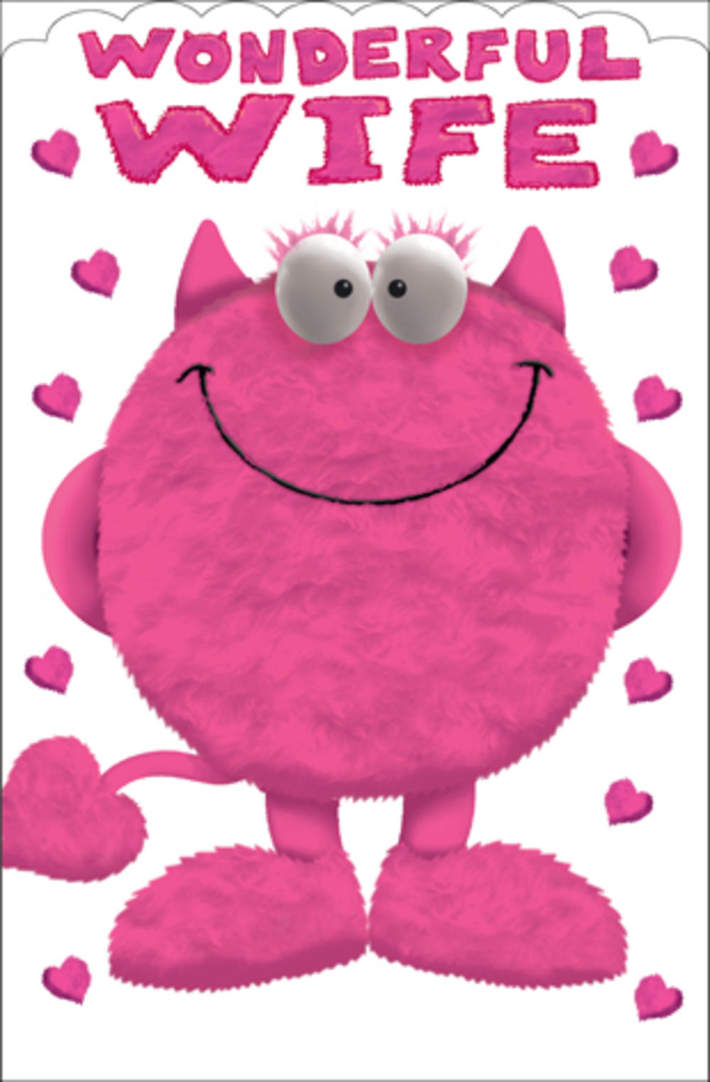 Wonderful Wife Love Monster Valentines Day Card Cards