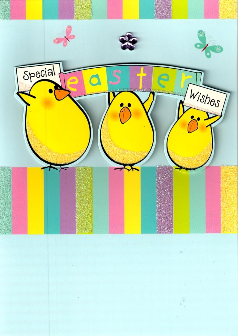 Special Easter Wishes Cute Chicks Easter Card Cards Love Kates