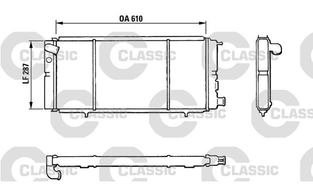 VALEO Kühler, Motorkühlung für Peugeot 205 1.7 Diesel 1.9