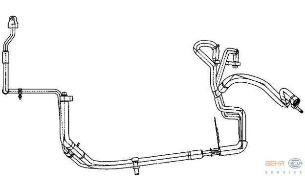 HELLA High Pressure Line, air conditioning fits Ford
