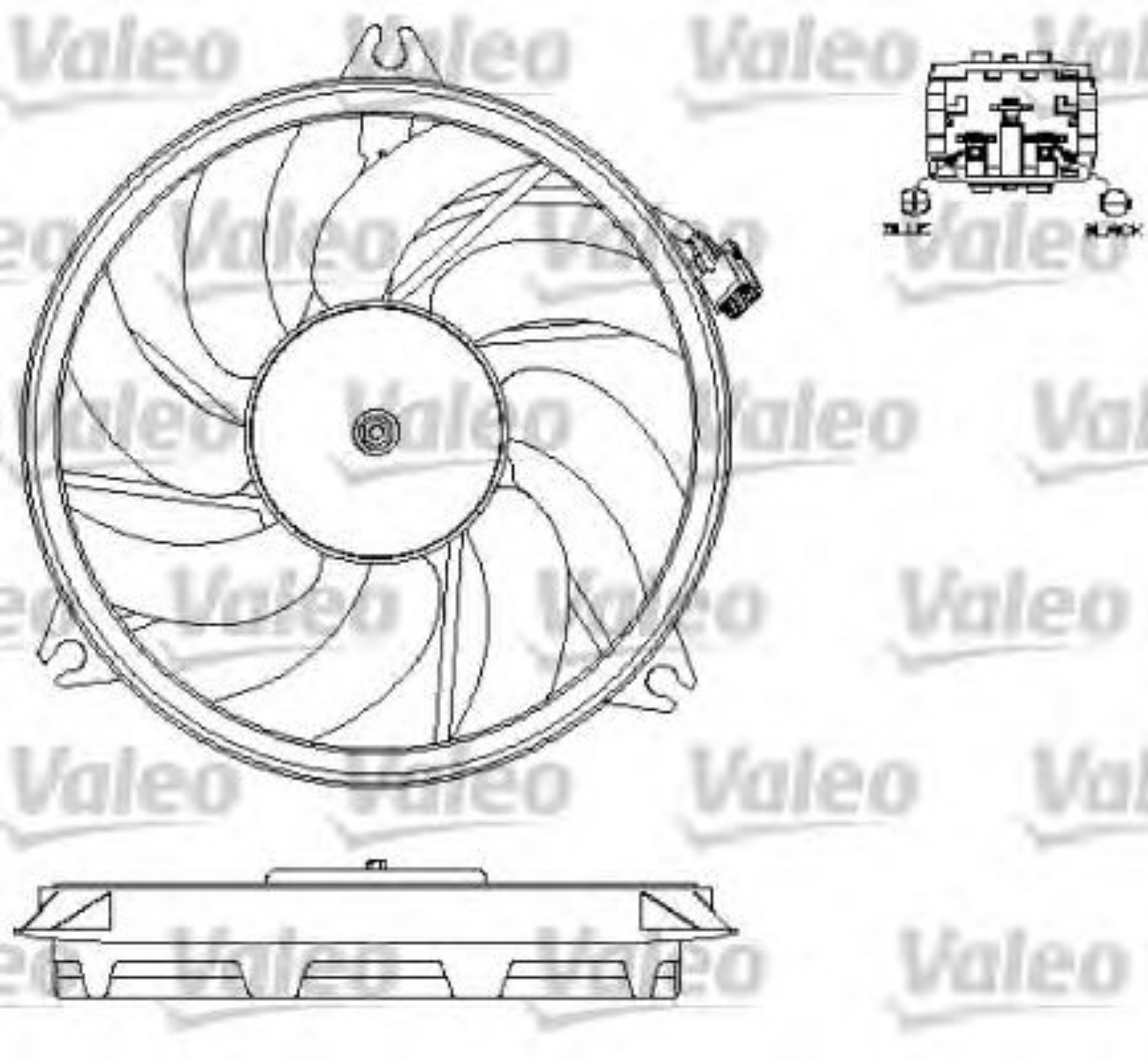 VALEO Radiator Fan Peugeot 206 1.4 HDI Eco 70,1.1