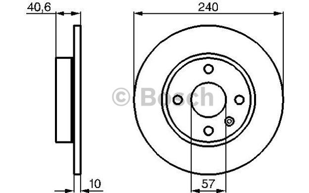 2x BOSCH Hinten Bremsscheiben Für Opel Corsa C 1.3 CDTI 1
