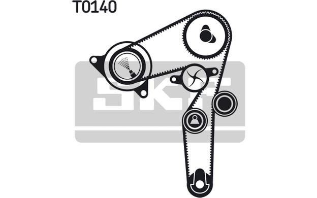 SKF Zahnriemen für Fiat Punto 1.9 JTD