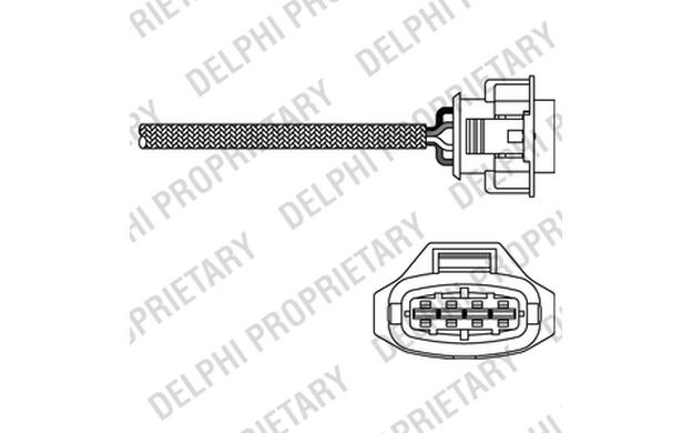 DELPHI Lambda Sensor for VAUXHALL ZAFIRA VECTRA ASTRA OPEL