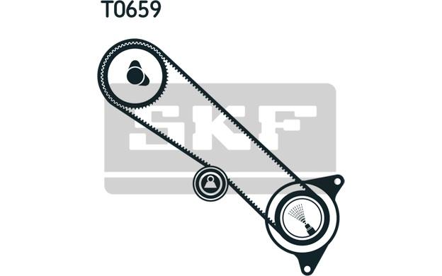 SKF Timing Belt Kit fits Toyota Land Cruiser 80 4.2 TD 24V