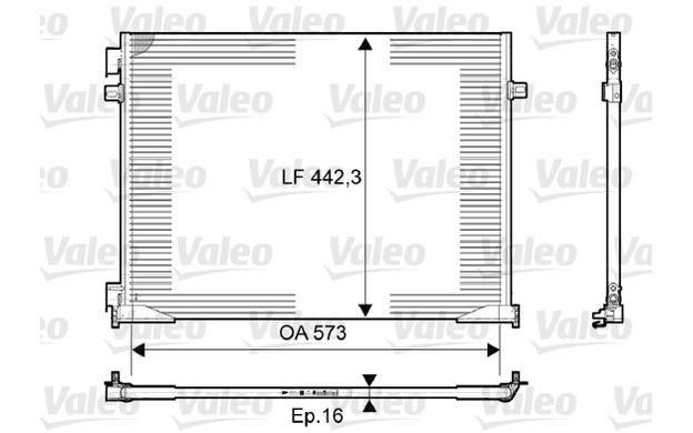 VALEO Condenser, air conditioning Renault Trafic 2.0 dCi 115
