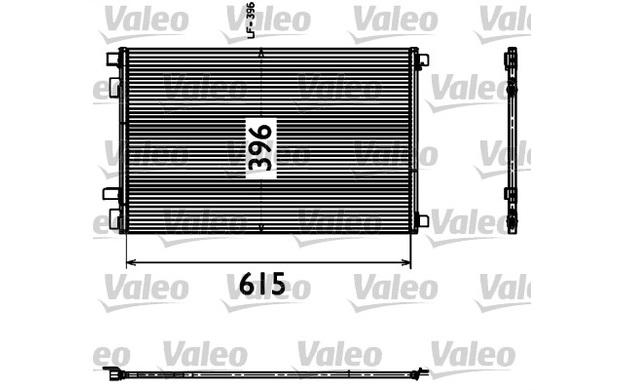VALEO Condenser, air conditioning RENAULT MEGANE SCENIC