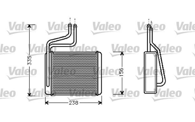 VALEO Heat Exchanger, interior heating Ford Mondeo 1.8 TD