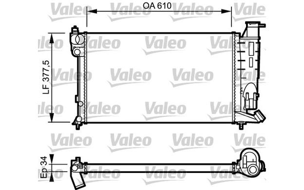 VALEO Radiator, engine cooling PEUGEOT 306 EXPERT CITROEN