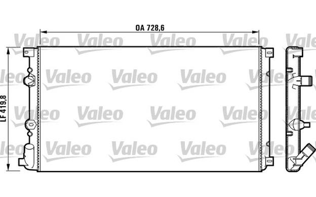 VALEO Radiator, engine cooling for RENAULT MASTER VAUXHALL