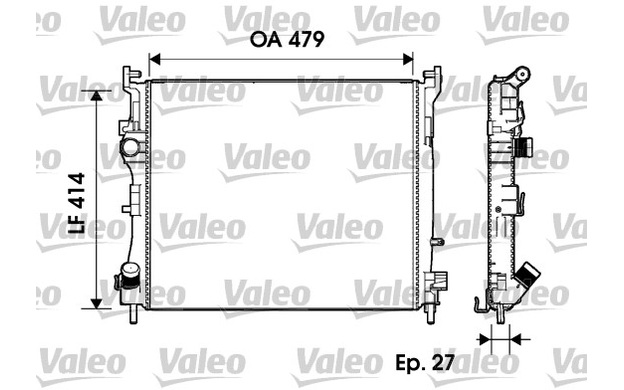VALEO Radiator, engine cooling RENAULT CLIO THALIA 732960