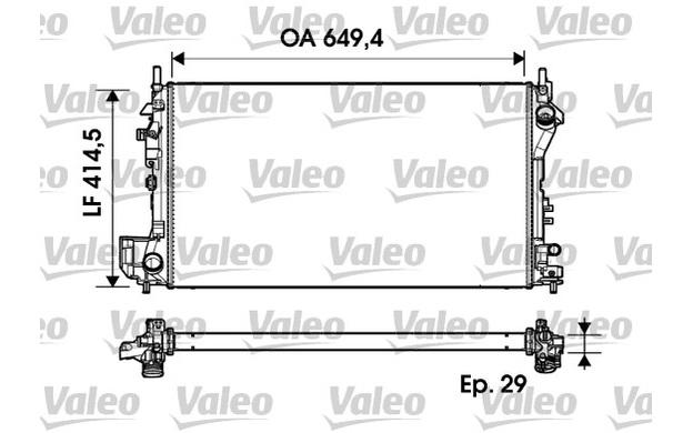 VALEO Radiator, engine cooling VAUXHALL SIGNUM VECTRA OPEL