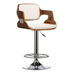 Chair Bar Stool Wheelchair Fencing Leather Effect Walnut Wood Comfortable