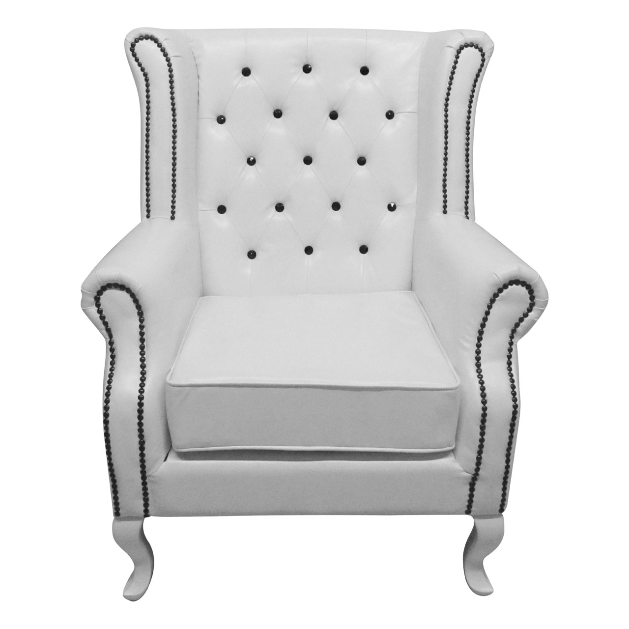 white leather wingback chair desk leg support wing myideasbedroom