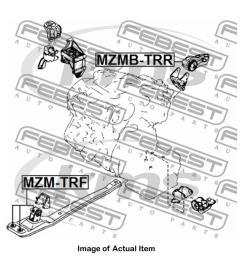 sentinel new genuine febest engine mounting mzmb trr top german quality [ 1600 x 1600 Pixel ]