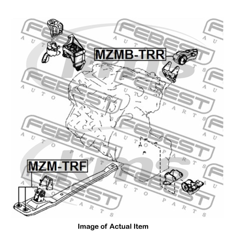medium resolution of sentinel new genuine febest engine mounting mzmb trr top german quality