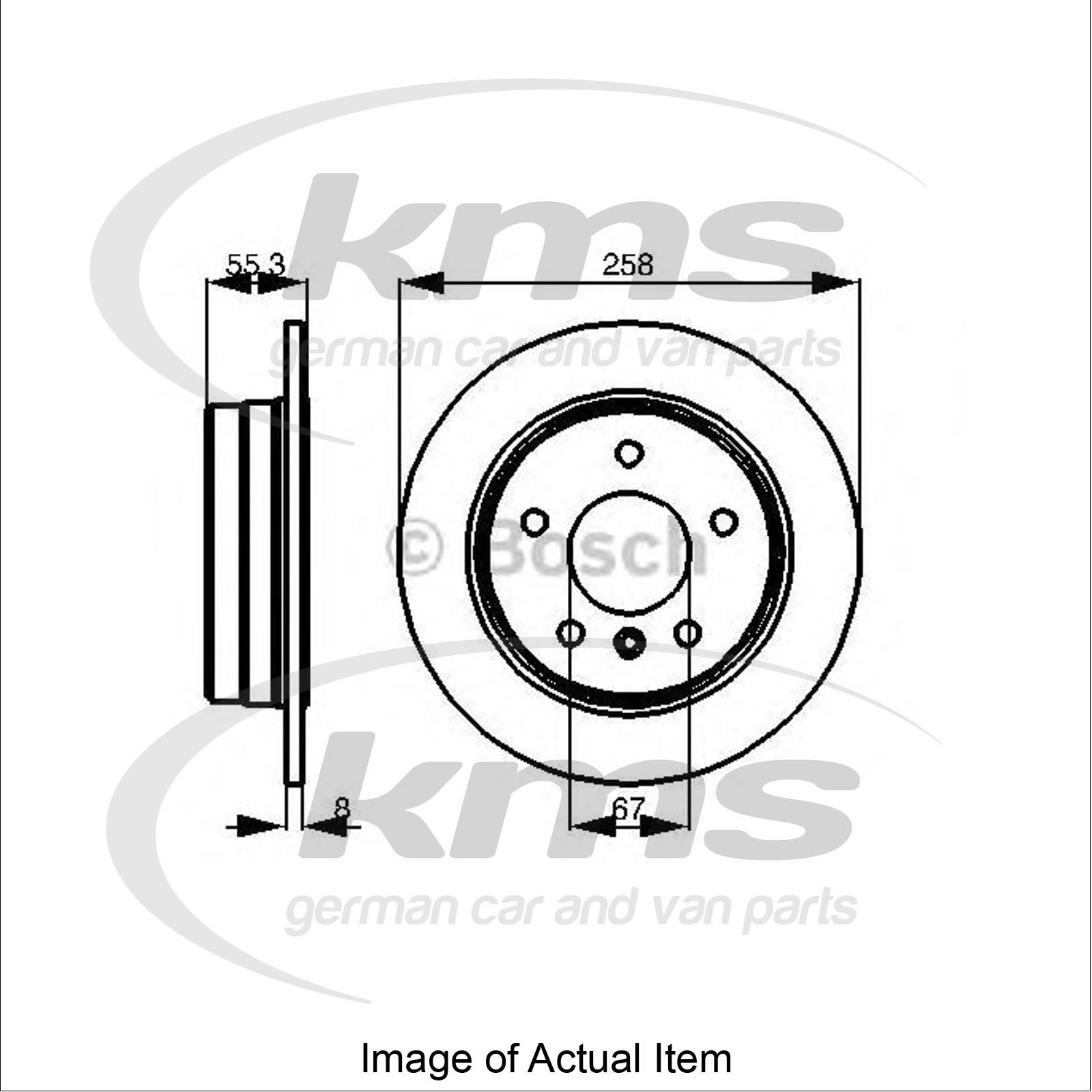 Brake Disc MERCEDES A-CLASS (W168) A 170 CDI (168.009, 168