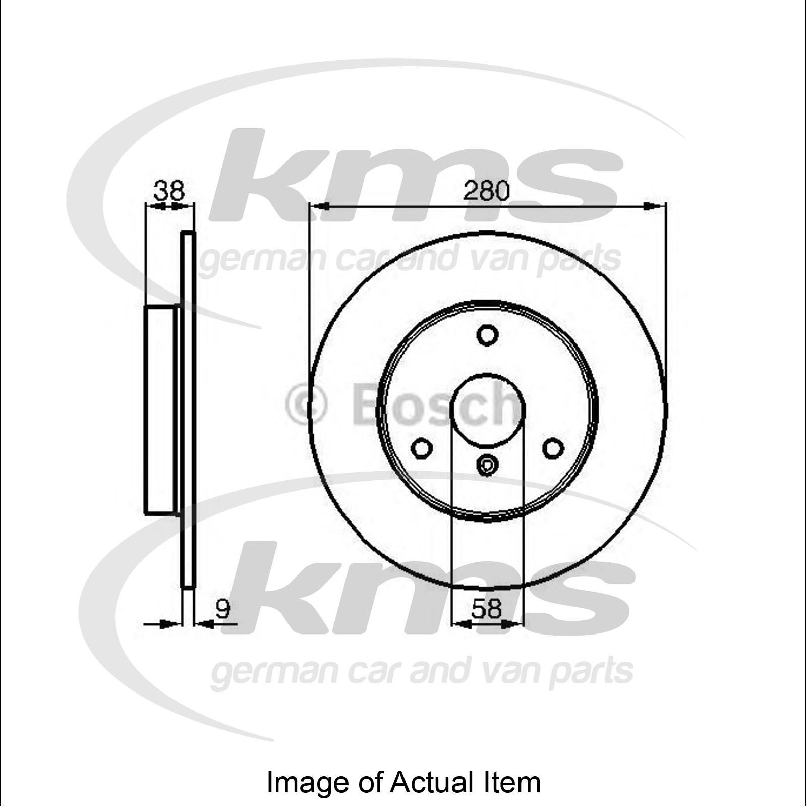 Brake Disc SMART FORTWO Cabrio (450) 0.8 CDI (450.401, 450