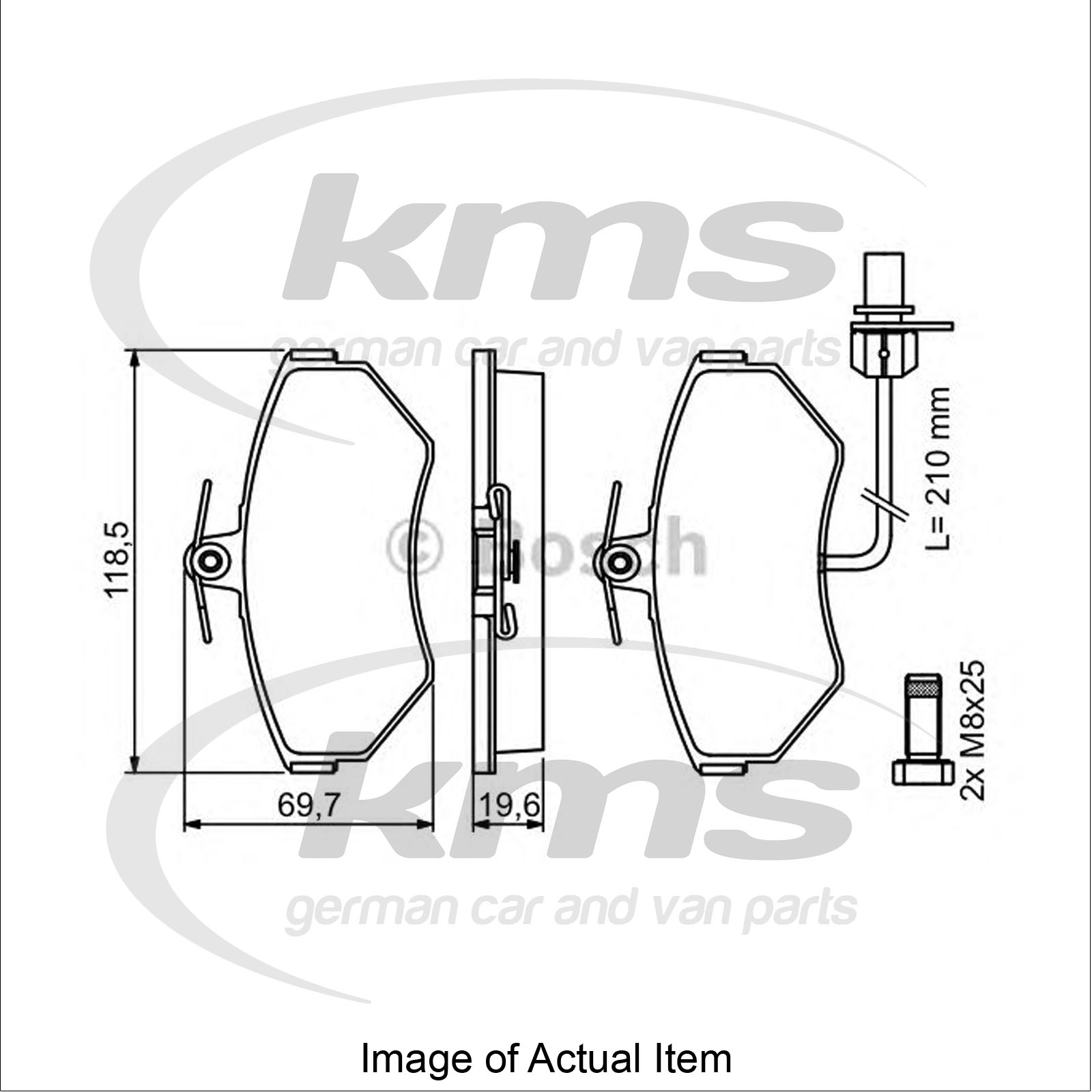 Brake Pad Set For disc brake AUDI A4 Avant (8ED, B7) 2.0