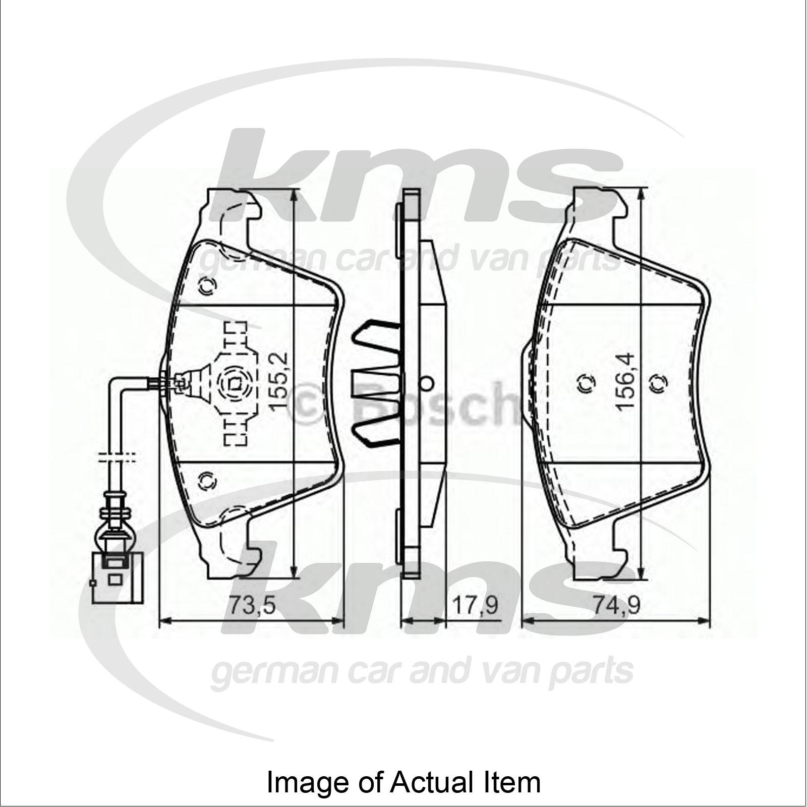 Brake Pad Set For disc brake VW TRANSPORTER / CARAVELLE Mk
