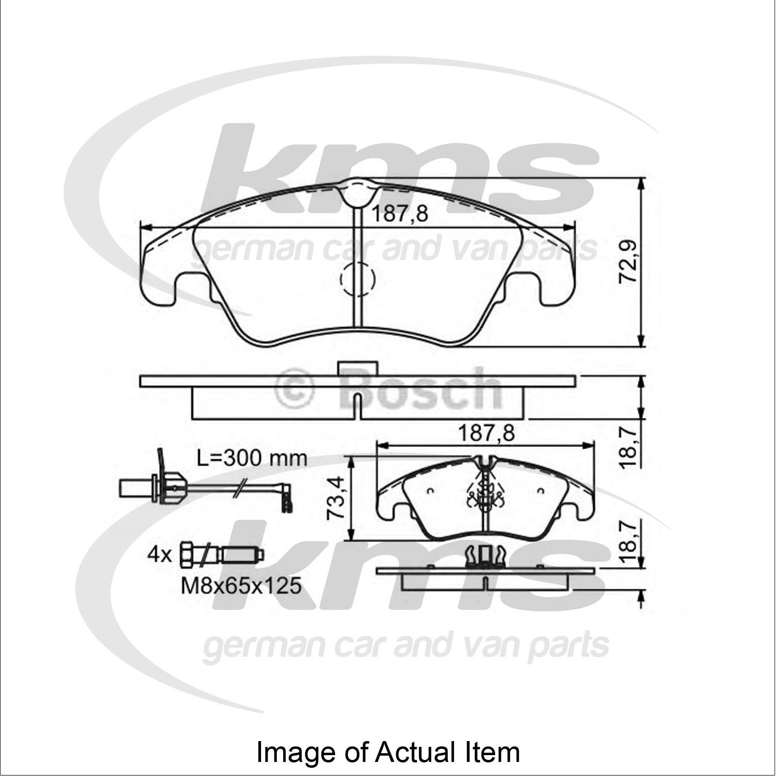 Brake Pad Set For disc brake AUDI A6 (4G2, C7) 3.0 TDI