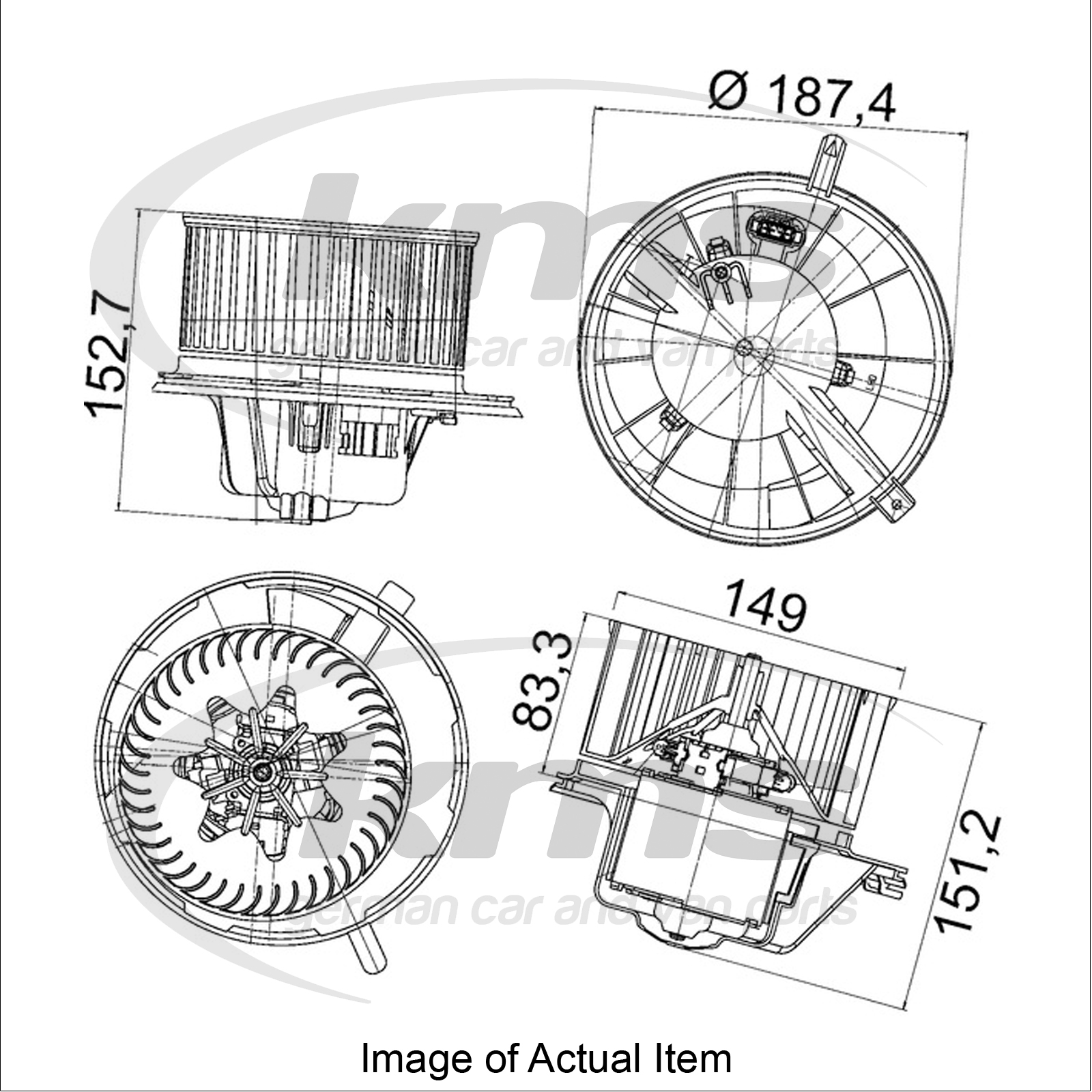 New Genuine Hella Interior Heater Blower Motor 8ew 351 043