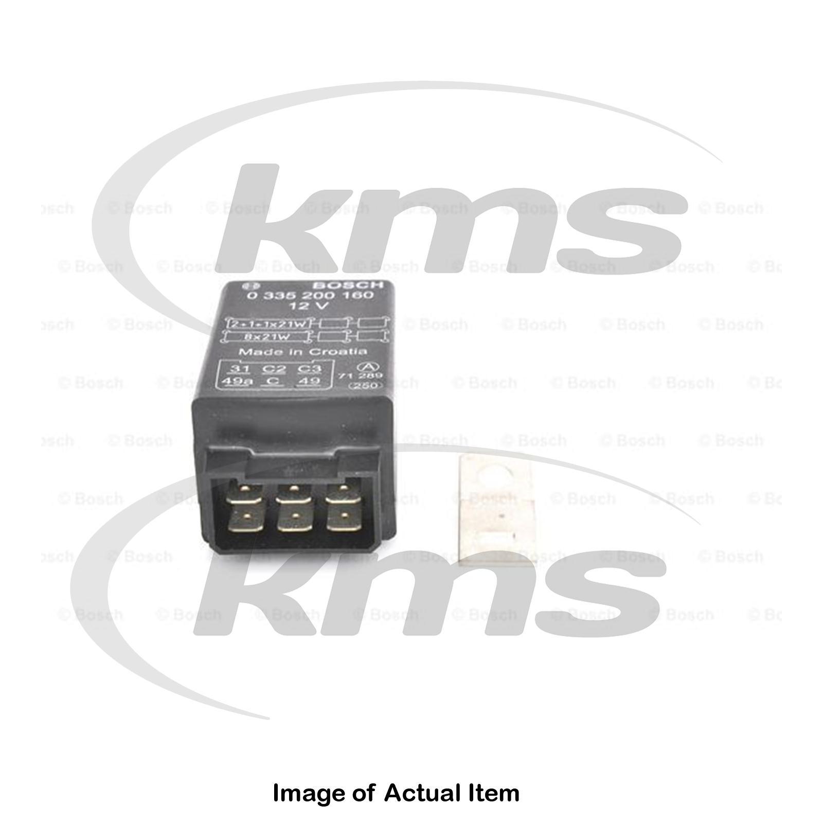 New Genuine Bosch Flasher Relay Unit 0 335 200 160 Top