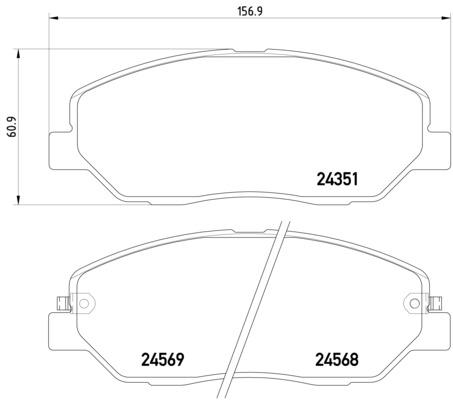 HYUNDAI SANTA FE 2.2 CRDI Pagid Pad Set T1602 Front Brake