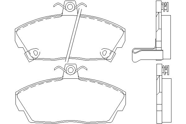 PAGID FRONT AXLE BRAKE PAD SET BRAKE PADS T5065 WITH