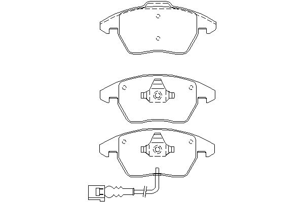 PAGID FRONT AXLE BRAKE PAD SET BRAKE PADS T1376 WITH