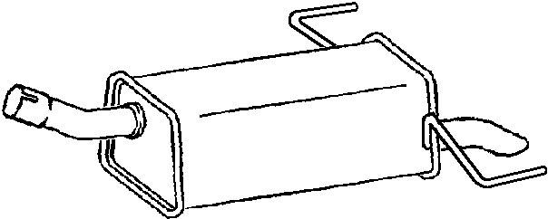 Klarius (GM475D) Exhaust Rear Back Box Vauxhall Astra H
