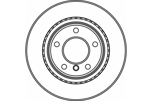 Pagid 54330 Rear 300mm Vented Brake Disc Fits BMW 1 E81