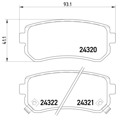 Pagid Rear Brake Pads Set Mando System Kia Cee'D Pro Cee'D