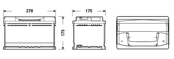 Lion Batteries Car Battery 12V 70Ah Type 100 620CCA Sealed