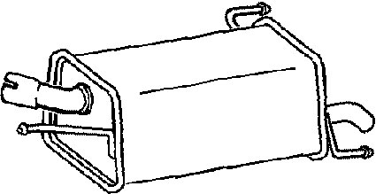 Klarius (GM490G) Exhaust Rear Back Box Vauxhall Corsavan
