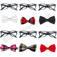 Geek Nerd Glasses & Bow Tie Fancy Dress Costume Kit School ...