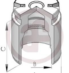 sentinel rear brake caliper piston 34mm d02578 audi ford renault seat vw [ 1157 x 1600 Pixel ]