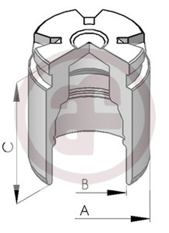 medium resolution of sentinel rear brake caliper piston 34mm d02578 audi ford renault seat vw