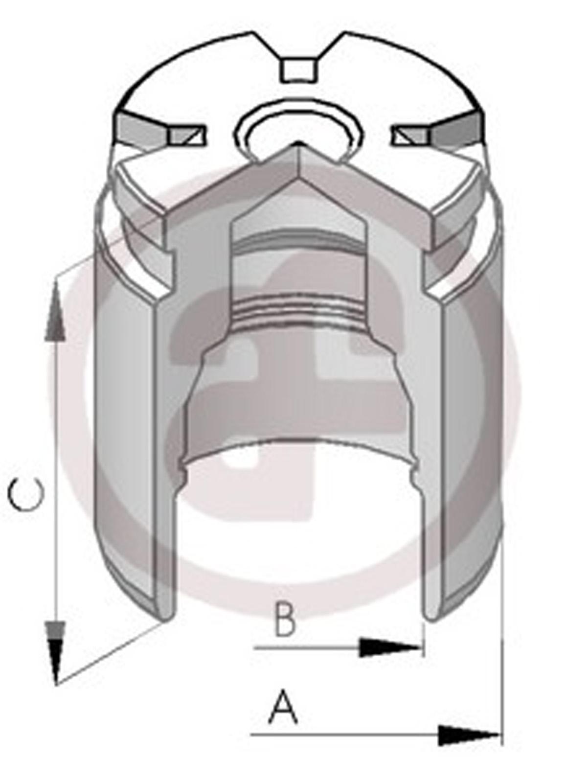 hight resolution of sentinel rear brake caliper piston 34mm d02578 audi ford renault seat vw